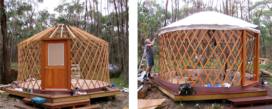 Yurt - construction pics